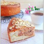 Пирог с рисом, пудингом и миндалем