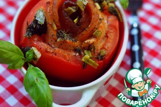 Рецепт: Лосось, запеченный в томатах по-зандвоортски