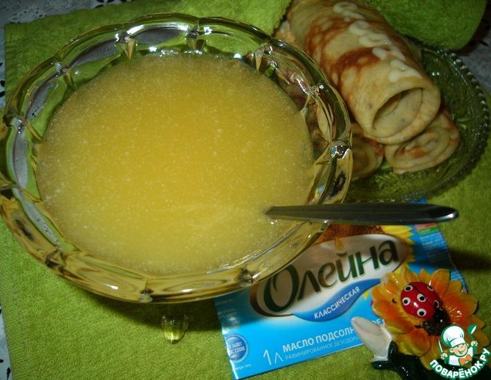 Рецепт: Сливочно-лимонный соус к блинчикам