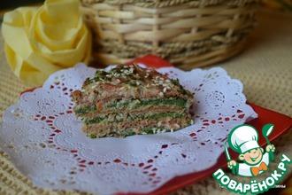 Рецепт: Закусочный ПП-блинный торт