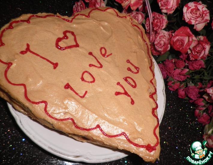 Рецепт: Торт медовик Признание
