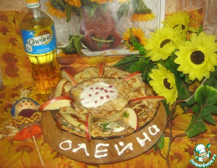 Рецепт: Пирог из блинов без муки Забава