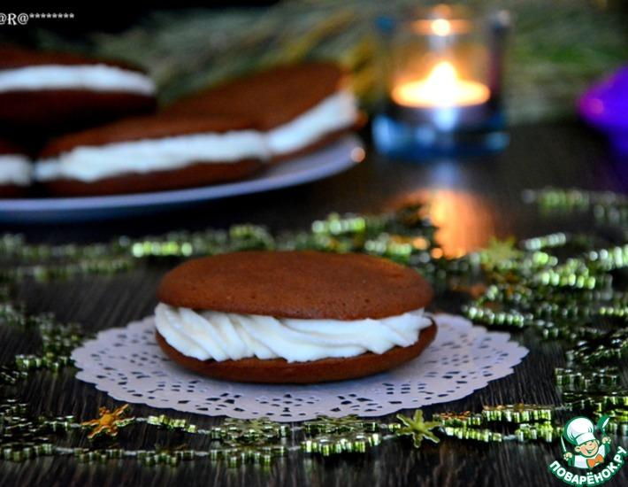 Рецепт: Шоколадное печенье Вупи