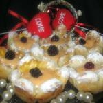 Десерт Валентинов день с лимонным муссом
