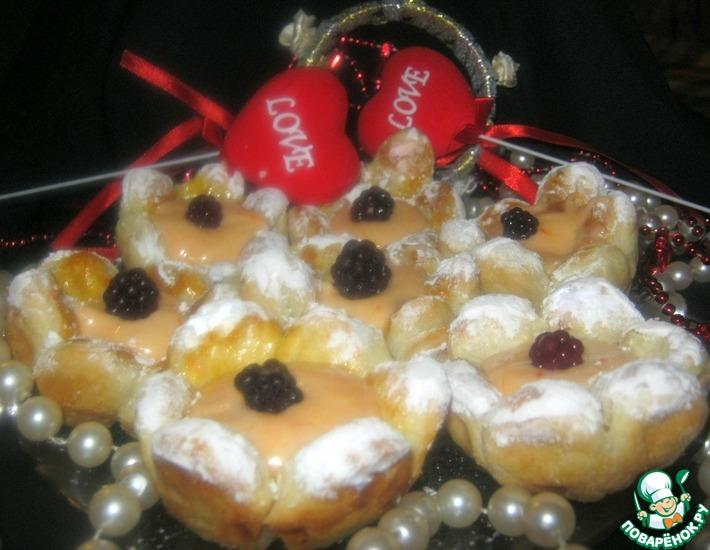 Рецепт: Десерт Валентинов день с лимонным муссом