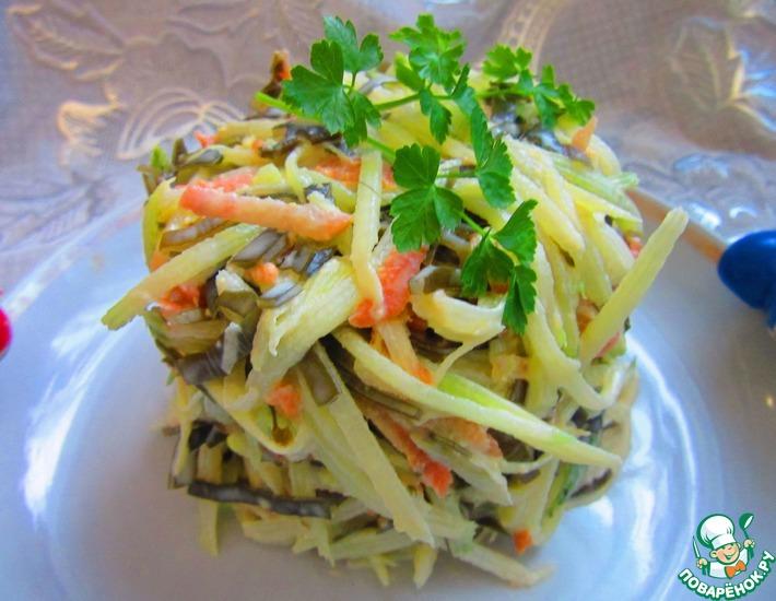 Салат из редьки капуста