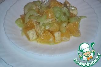 Рецепт: Салат из апельсинов и сельдерея по-французски