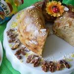 Блинное кольцо с ореховой начинкой