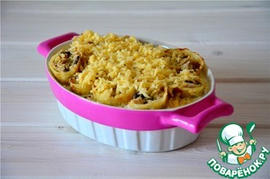 Sprinkle with grated cheese. Bake for 25 minutes at t-180*. Serve hot. Bon appetit!