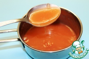 Получился соус по густоте похожий на жидкую сметану.