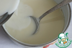 Boil the remaining 200 ml milk and a thin stream stirring constantly pour in to rice-milk mixture. Mix well.