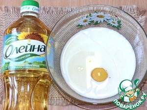 To make pancakes combine milk, egg, salt, sugar, vegetable oil.