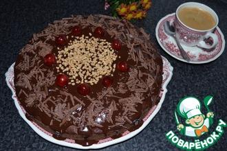 Рецепт: Шоколадный пирог с грушами и амаретто