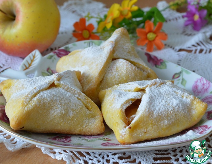Рецепт: Тыквенные пирожки с яблоками
