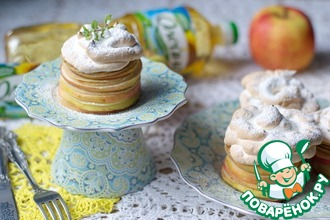 Рецепт: Пирожные из блинчиков и яблок