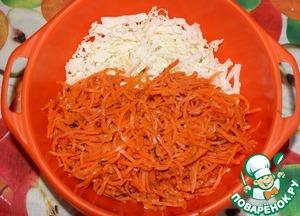 Затем добавляем корейскую морковку...