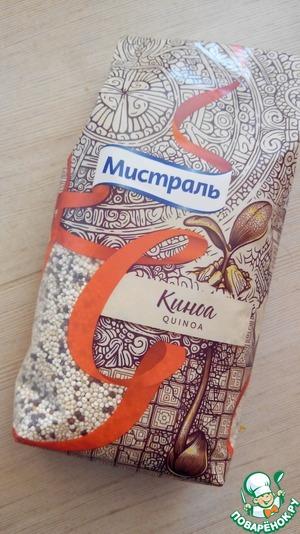 According to instructions prepare quinoa. I have quinoa TM Mistral