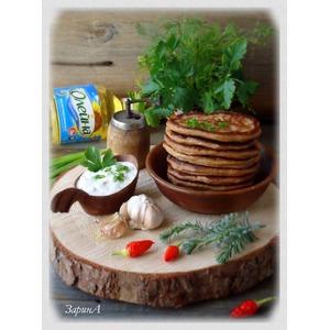 Ржаные оладьи с соусом «тартар»