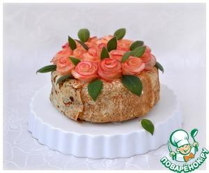 Украсить торт розами...