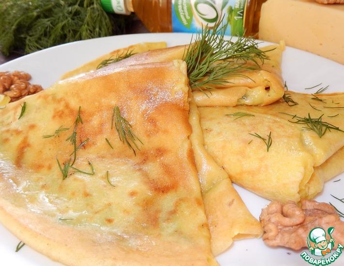 Рецепт: Сырная начинка к пикантным блинчикам