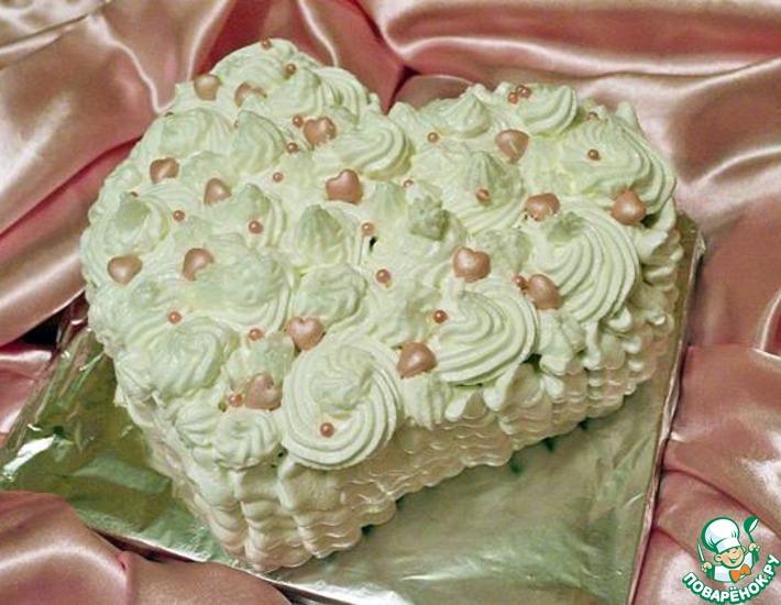 Рецепт: Торт Сердце красавицы