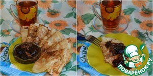 If by this time ready, and pancakes, you can serve them on the table.  The sauce was delicious and hot and cold.