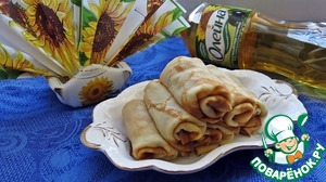 Our crepes stuffed with bananas and white chocolate - ready!