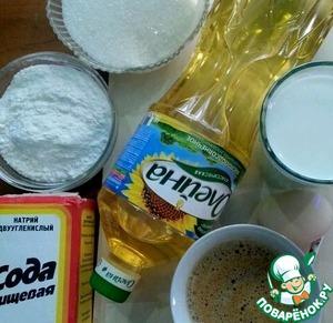 Для приготовления блинчиков нам потребуются следующие продукты.   Муку просеять, сахар отмерить. Развести в горячей воде ложку кофе.