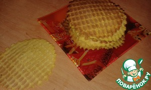 Spread a tablespoon on a heated waffle iron. Bake until Golden brown. Bon appetit!