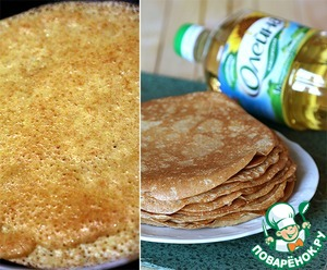 Porous and bake wonderful pancakes. This quantity makes about 15pcs was diameter.