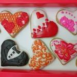 Печенье-валентинки под сахарной глазурью
