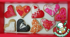 Cookies-Valentines for sugar glaze