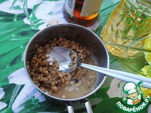 Add cognac, cook some more, so that the alcohol evaporates.