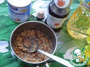 Add maple syrup, stir, bring to a boil.