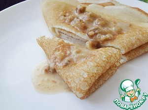 Pour the cooled pancakes with sauce and enjoy the taste along with they!