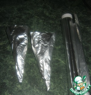 Make cones out of foil