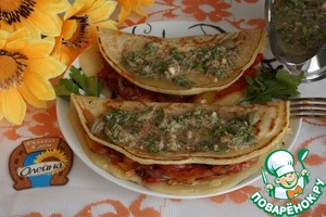 Suggest to serve these pancakes with green sauce, the recipe of which can be seen here http://www.povarenok .ru/recipes/show/102 832/
