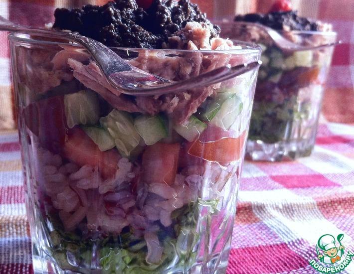 Рецепт: Салат с рисом и тунцом