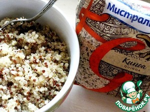 """Boil quinoa """"Mistral"""" according to the recommendations on the package"""