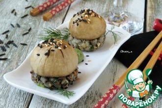 Рецепт: Нигири-суши с шампиньонами