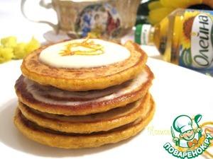 Serve pancakes with orange English cream