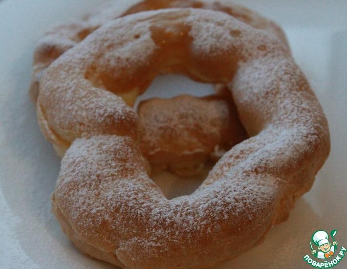 Рецепт: Заварные кольца с апельсиновым кремом
