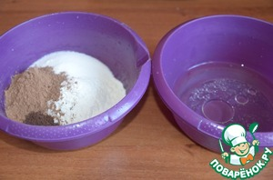 1 стакан = 250 мл      Всё предельно просто! Как и все мои рецепты)      Включаем духовку греться на 200 градусов.      1. Смешиваем сухие ингредиенты.   2. Смешиваем жидкие ингредиенты.