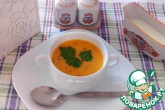 Рецепт: Сливочный суп с рисом и кабачками