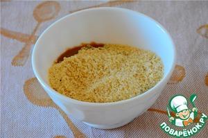 Add the almond crumbs. Stir.
