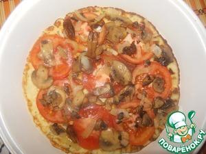 On tomatoes put the mushrooms.