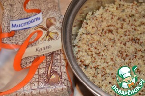 Cook quinoa as directed on package