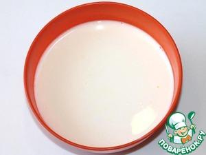 add warm milk,