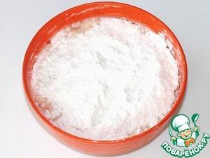 flour, mix well.