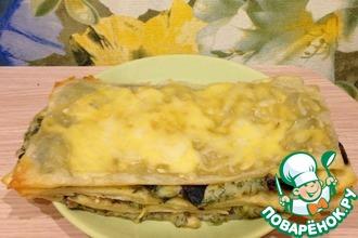 Рецепт: Сытный пирог Грибная поляна